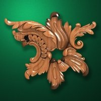 Carved wooden or MDF decorative onlay for furniture. Code 13536