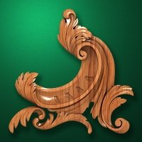 Carved wooden or MDF decorative onlay for furniture. Code 13537