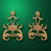 Carved wooden or MDF decorative onlay for furniture. Code 13538