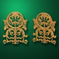 Carved wooden or MDF decorative onlay for furniture. Code 13539