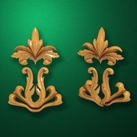 Carved wooden or MDF decorative onlay for furniture. Code 13540