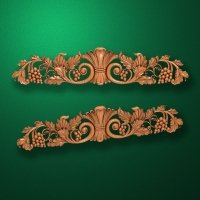 Image - Carved horizontal wooden or MDF decorative onlay. Code 14002