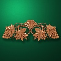 Carved horizontal wooden or MDF decorative onlay. Code 14008