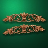 Image - Carved horizontal wooden or MDF decorative onlay. Code 14009