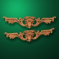 Carved horizontal wooden or MDF decorative onlay. Code 14010