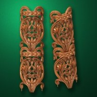 Image - Carved vertical wooden or MDF decorative onlay. Code 14204