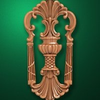Image - Carved vertical wooden or MDF decorative onlay. Code 14208