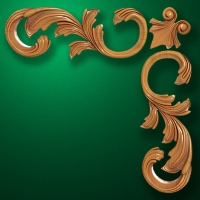 "Carved wood decor ""Corner element-002"""