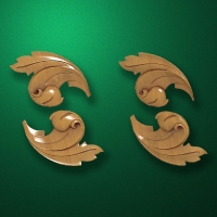 "Carved wood decor ""Corner element-004"""
