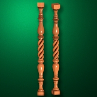 "Carved from wood ""Baluster-003"""