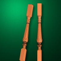 "Carved from wood ""Baluster-004"""