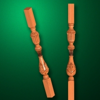 "Carved from wood ""Baluster-005"""