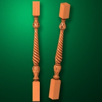 "Carved from wood ""Baluster-006"""