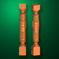 "Carved from wood ""Baluster-010"""
