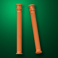"Carved from wood ""Baluster-011"""