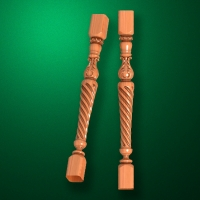 "Carved from wood ""Baluster-017"""