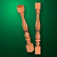 "Carved from wood ""Baluster-018"""