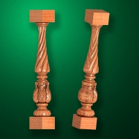 "Carved from wood ""Baluster-019"""