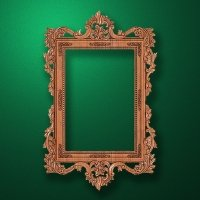 "Carved wood frame  ""Rectangular frame-001"""