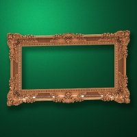 "Carved wood frame  ""Rectangular frame-002"""