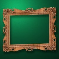 "Carved wood frame  ""Rectangular frame-003"""