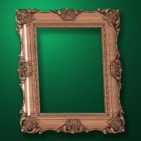 "Carved wood frame  ""Rectangular frame-005"""