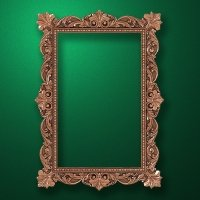 "Carved wood frame  ""Rectangular frame-007"""