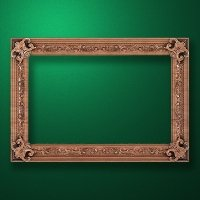 "Carved wood frame  ""Rectangular frame-008"""
