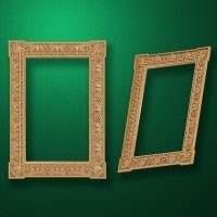"Carved wood frame  ""Rectangular frame-009"""