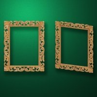 "Carved wood frame  ""Rectangular frame-012"""