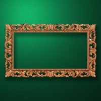 "Carved wood frame  ""Rectangular frame-013"""