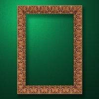 "Carved wood frame  ""Rectangular frame-014"""