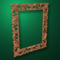 "Carved wood frame  ""Rectangular frame-017"""