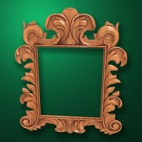 "Carved wood frame  ""Rectangular frame-018"""