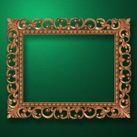 "Carved wood frame  ""Rectangular frame-019"""