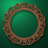 "Carved wood frame  ""Round frame-002"""