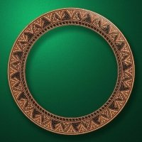 "Carved wood frame  ""Round frame-003"""