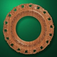 "Carved wood frame  ""Round frame-004"""