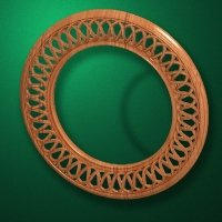 "Carved wood frame  ""Round frame-007"""