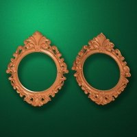 "Carved wood frame  ""Round frame-008"""