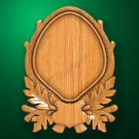 Stand-medallion for hunting trophy (Leaves and acorns)