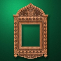 """Wooden carved """"Icon case-003-1"""""""