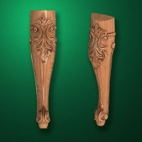 Image - Caved wooden legs for furniture (Code 50005)