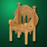 "Carved ""Chair-002"" for Bathhouses-Saunas"
