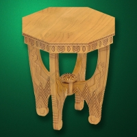 "Carved ""Table-004"" for Bathhouses-Saunas"