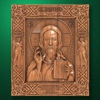 "Carved wood Icon  ""The Christ Almighty"""