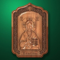"Carved wood Icon ""Jesus Christ"" (code 77011)"