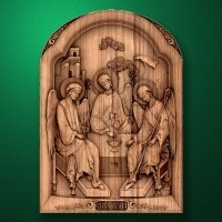 "The wood carved icon ""Holy Trinity"""