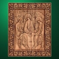 "The wooden carved icon ""Holy Trinity"""