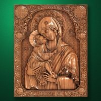 "Carved wood ""Donskaya icon mother of God"""